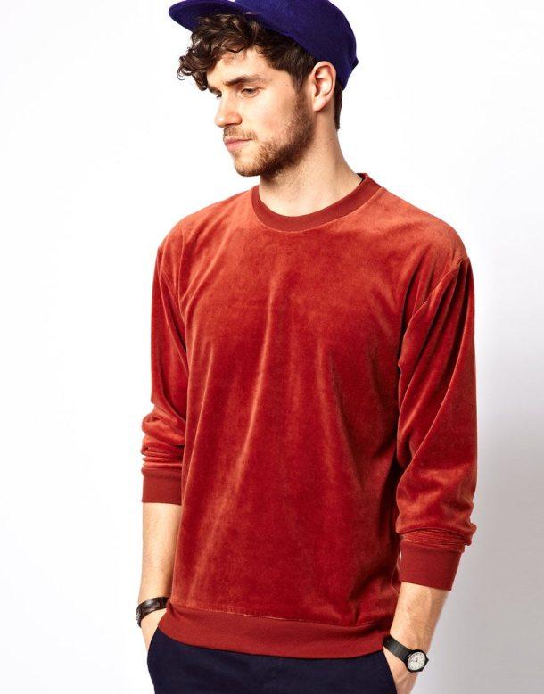 Red-Velour-Mens-American-Apparel-Sweatshirt-ASOS