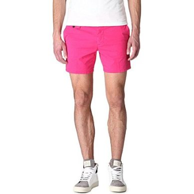 D-Squared-Pink-Neon-Chino-Shorts