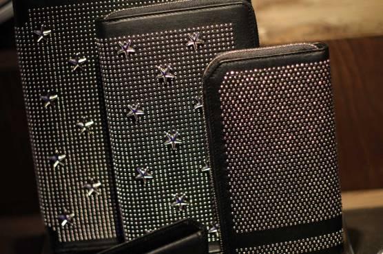 Jimmy-Choo-LCM-SS14-Presentation-Black-Studded-Stars-Document-Wallet-Zip-Leather
