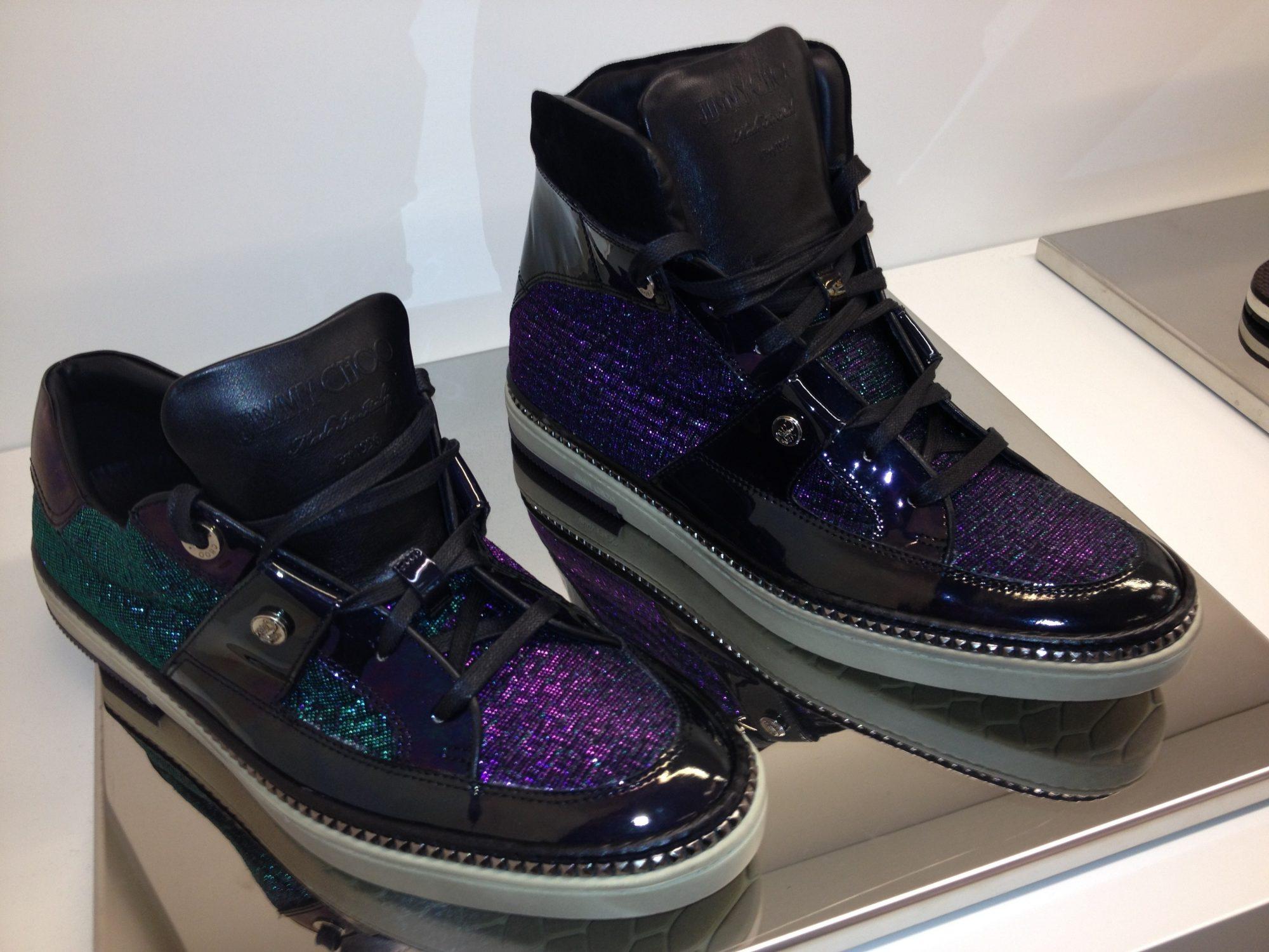 Jimmy-Choo-Mens-Cruise-2014-Belgravia-Portman-Holographic-Hologram-Hi-top-Trainer-Sneaker