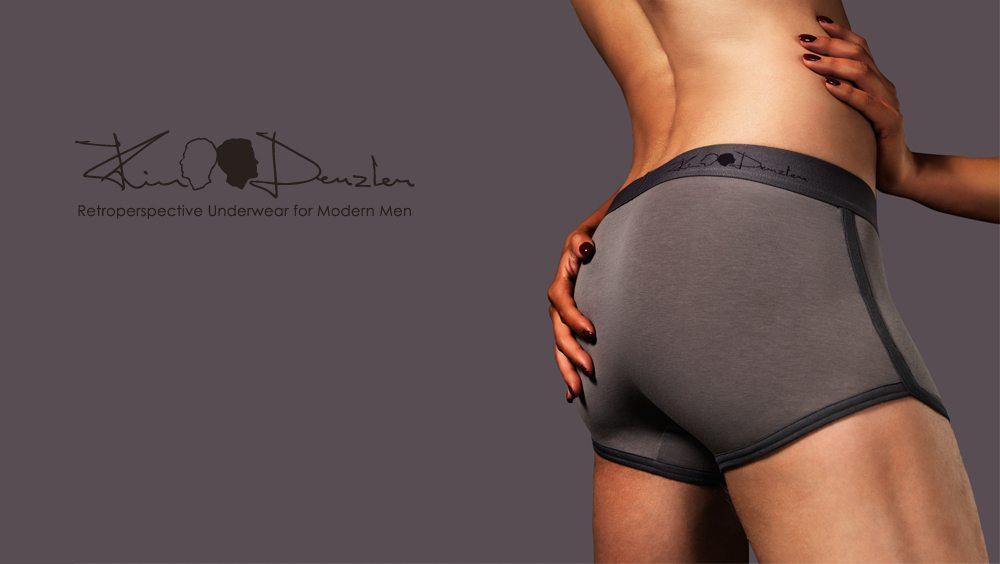 Kim Denzler - Men's Boxer Briefs - Stone Grey