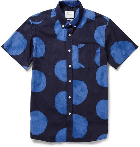 Saturdays-Surf-NYC-ESQUINA DOT-PRINT COTTON SHIRT