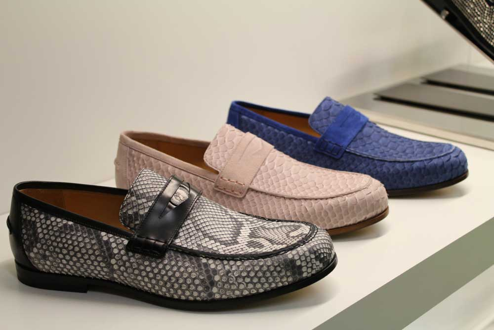 Jimmy_Choo_Mens_SS14_Preview_October_2013_slip_on_python_pink_blue