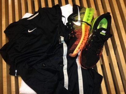 Nike_Flyknit_Air_Max_mens_orange_green_black_gym_bench