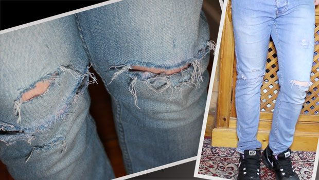 Robin James - Man For Himself - DIY Style | Ripped Jeans