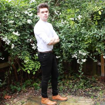 ASOS-Longline-Grandad-Collar-Shirt-Cheap-Monday-Black-Skinny-Jeans-Brown-Frank-Wright-Brogue-Boots