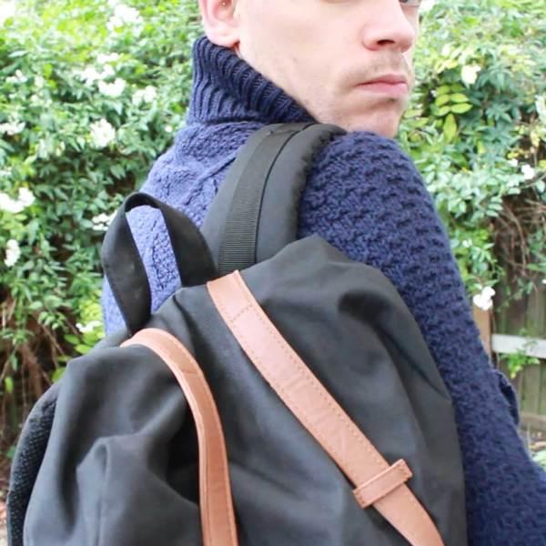 Herschel-Retreat-Bag-Navy-Cable-Knit-Roll-Neck-Topman