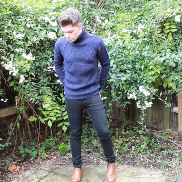 Topman-Navy-Cable-Knit-Roll-Neck-Pea-Coat-Cheap-Monday-Skinny-Jeans-Chelsea-Boots-2