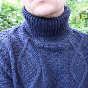 Topman-Navy-Cable-Knit-Roll-Neck