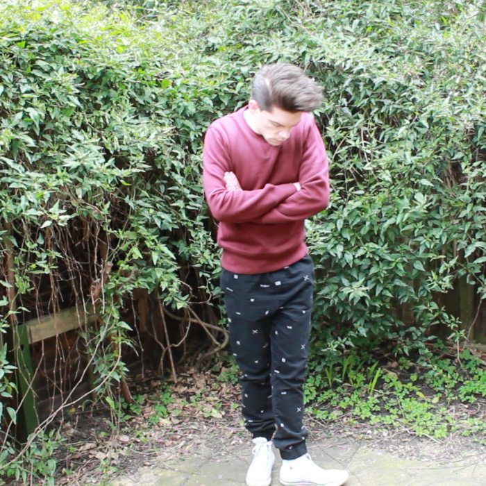 Boohoo Basic Sweatshirt Burgundy Robin James Man For Himself Spring Lookbook