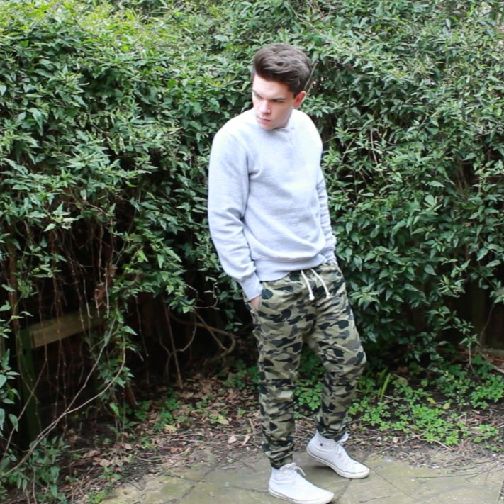 Boohoo Basic Sweatshirt Grey Robin James Man For Himself Spring Lookbook