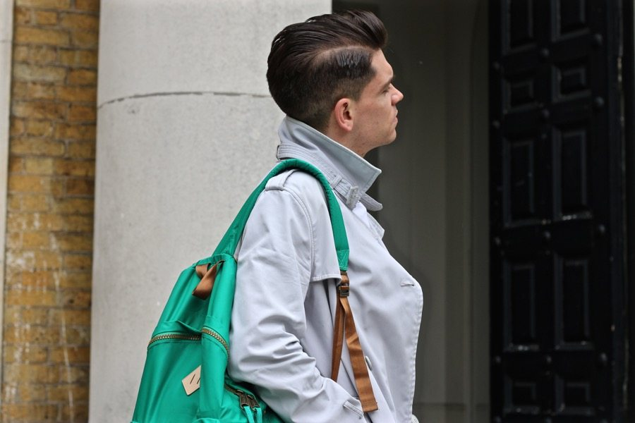 Robin-James-Slick-Back-Hair-Topman-Trench-Coat