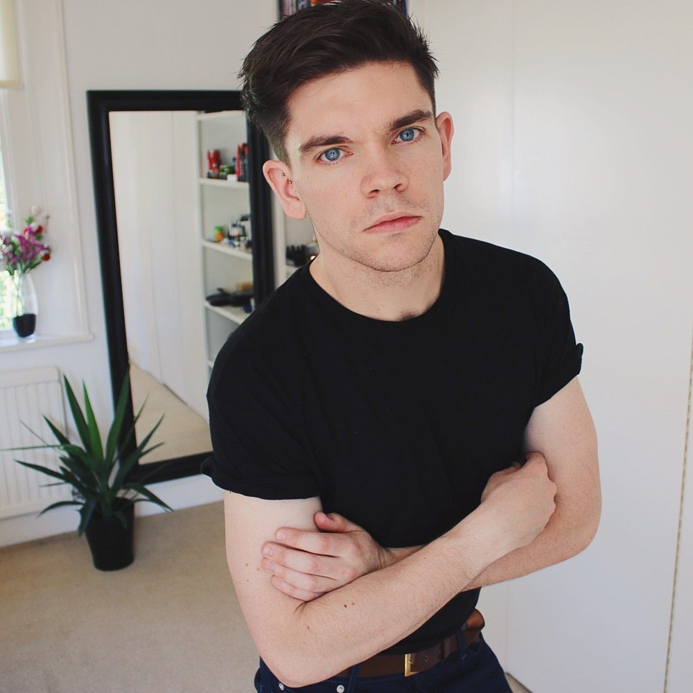 Topman Haul - Black roller sleeve t-shirt