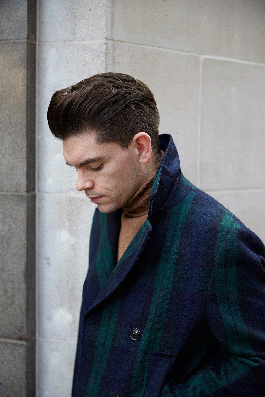 Tommy Hilfiger Tartan Pea Coat | Robin James | Man For Himself