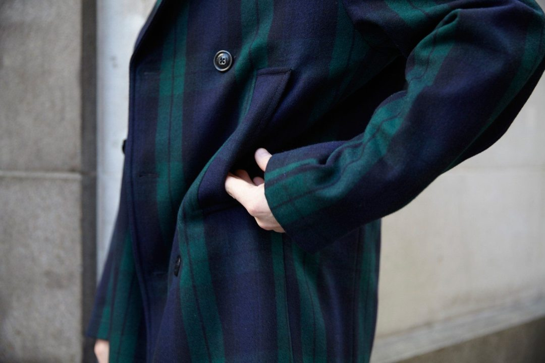 Tommy Hilfiger Tartan Pea Coat| Robin James | Man For Himself