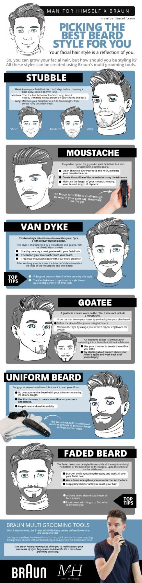 best beard styles infographic Man For Himself