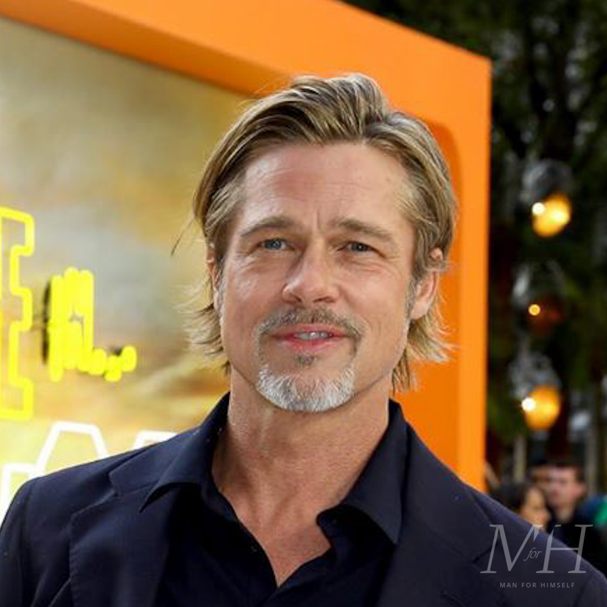 Brad Pitt: Grown Out Fine Hair  Man For Himself