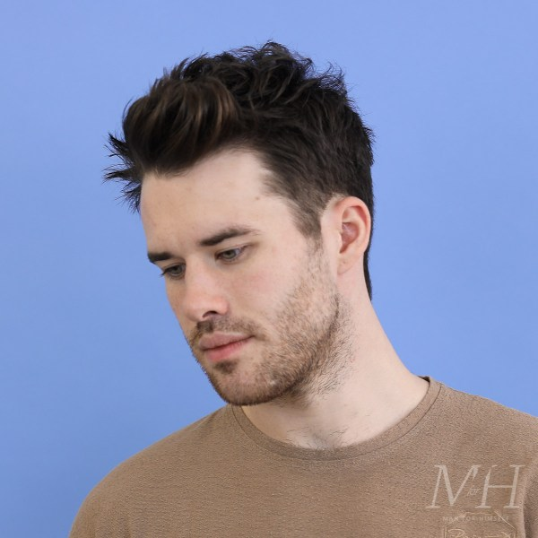Medium Length Hairstyle Man For Himself