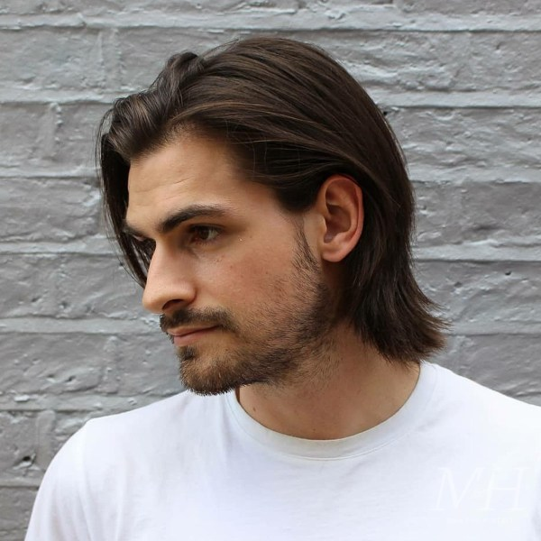 Grown Out Length Long Hairstyle Man For Himself