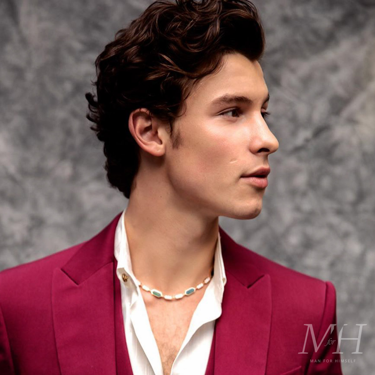 Shawn Mendes Medium Length Curly Hair Man For Himself