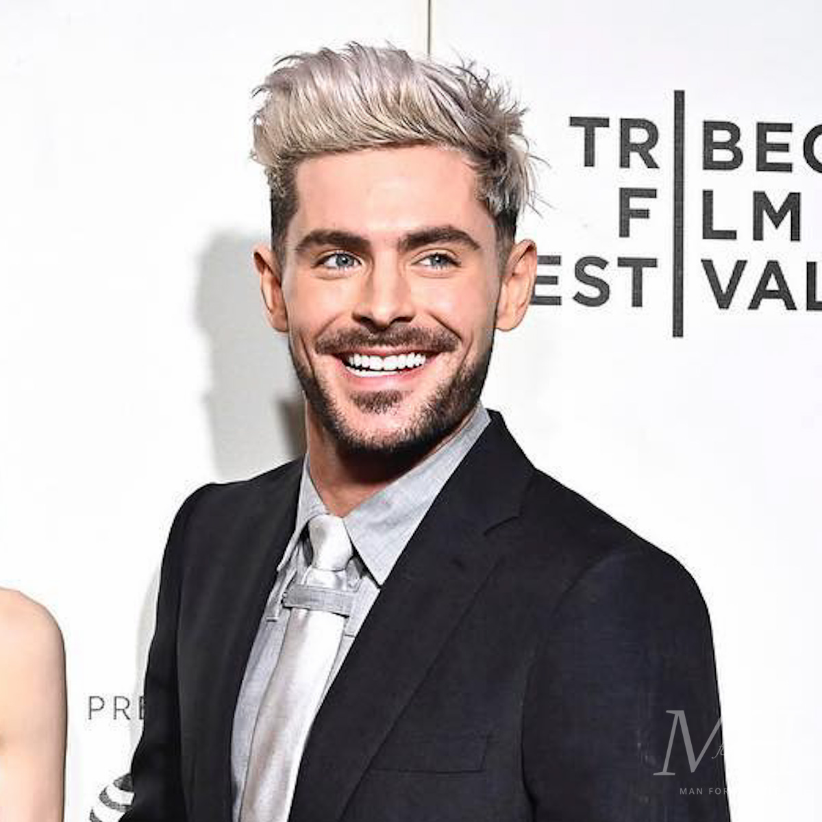 Zac Efron Bleached Blonde Long Quiff Hairstyle Man For Himself