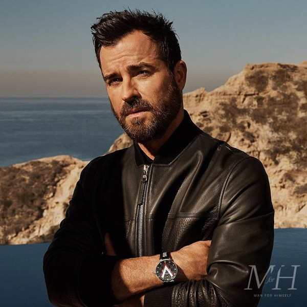 Justin Theroux: Textured Hair With A Widow's Peak