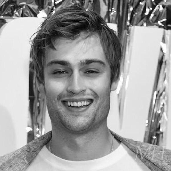 douglas booth straight side parted hairstyle