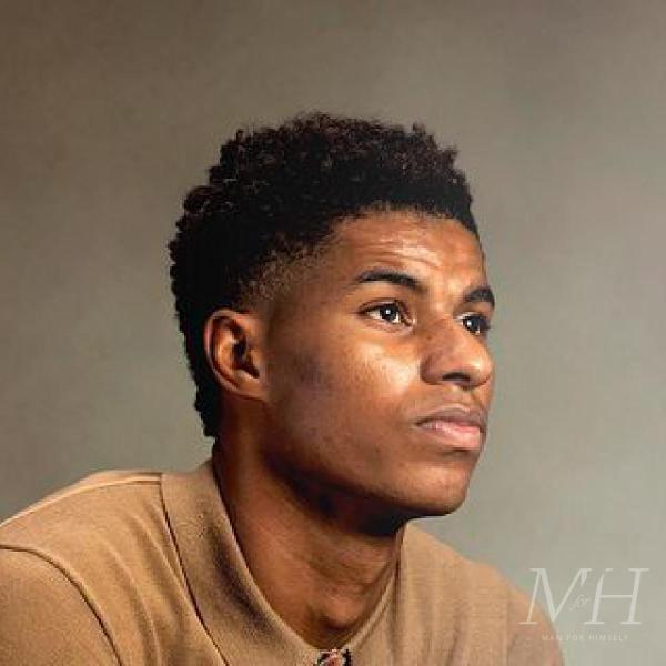 Marcus Rashford: Tapered Afro With Fade And Textured Curls