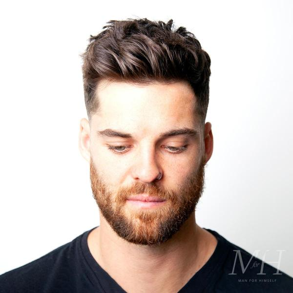 Tapered Fade With Square Textured Top