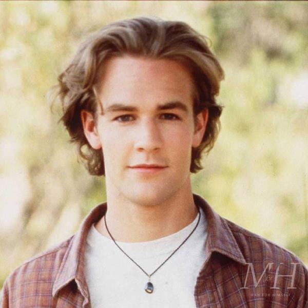 James Van Der Beek: Wavy Medium Length 90s Heartthrob Hairstyle