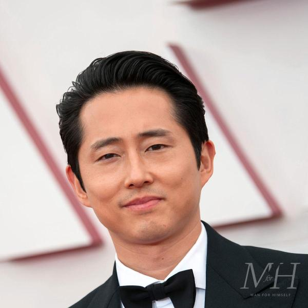 Steven Yeun: Medium Length Hair Swept Back