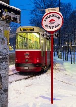 Haltestellentafel Ring Uni Wien u c5 beiwagen 2-17-2