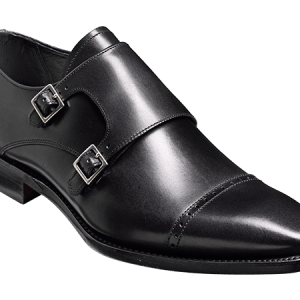 Barker lancaster leather shoes black front