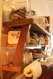 Angled shelves