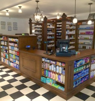 Organic Planet Antique Pharmacy Williamsburg Brooklyn designed by Man From The Woods