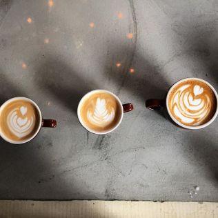 Swallow Cafe Bedford custom reflective concrete bar