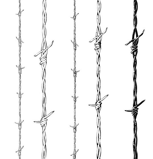 Barbed Wire 5 Type Brushes