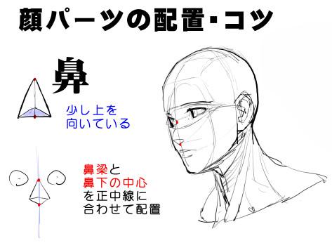 アオリフカンを克服する頭部顔の描き方 漫画素材工房 Manga