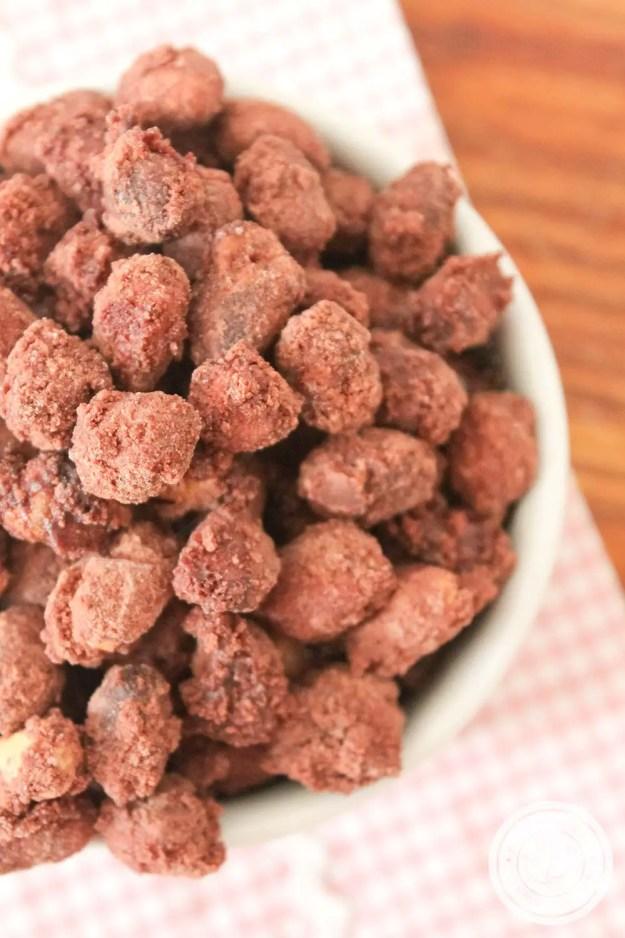 Amendoim Praliné - Veja como é fácil fazer esse amendoim doce em casa.