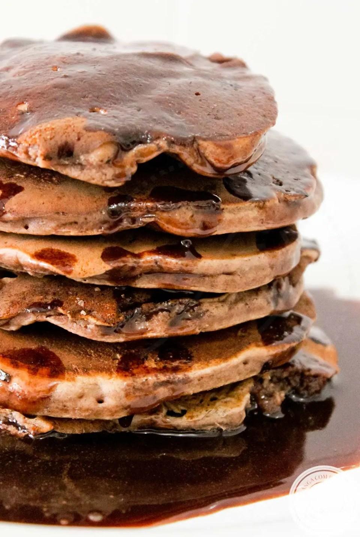 Panquecas Americanas de Chocolate | Uma delícia com bastante sabor para o café da manhã!