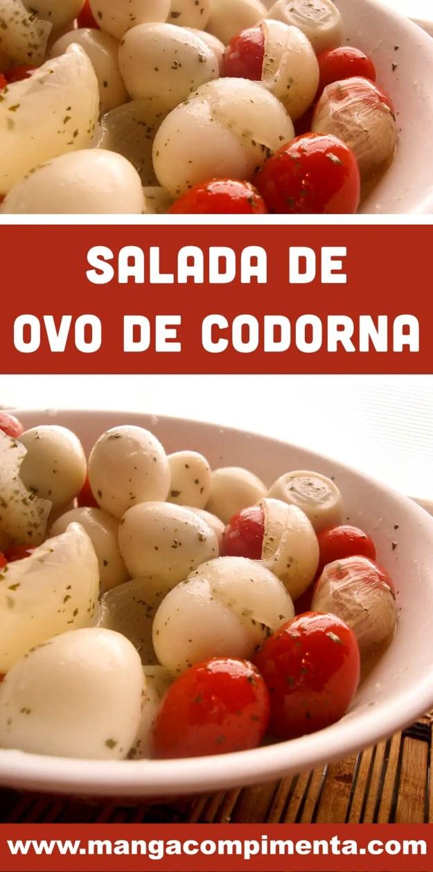 Salada de Ovo de Codorna com Tomate Cereja - um prato que pode ser servido no almoço ou para petiscar com os amigos.