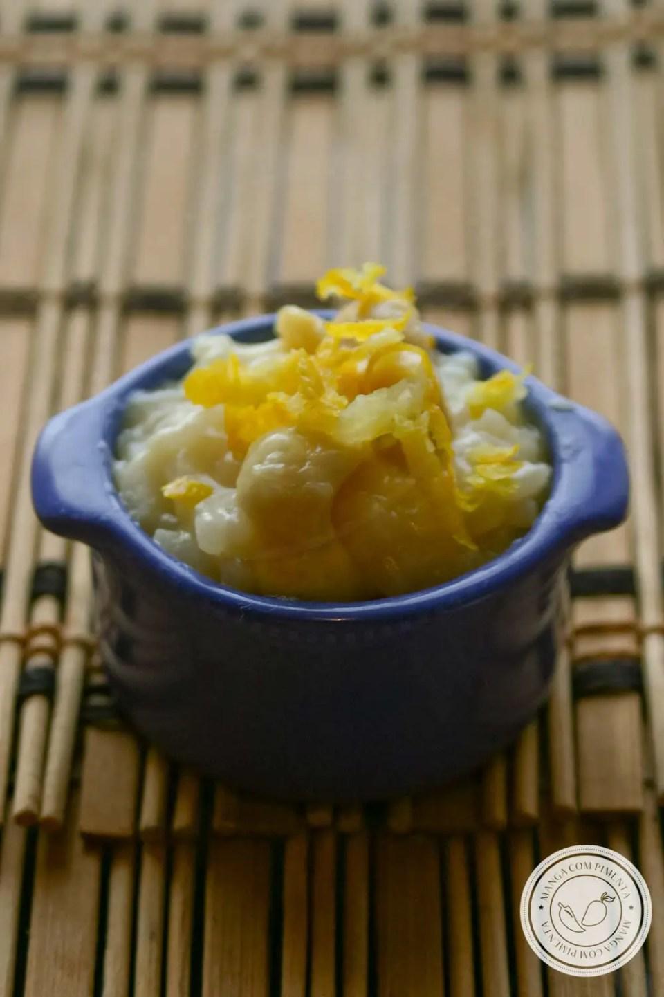 Risoto de Limão Siciliano - um prato perfeito para um jantar romântico!