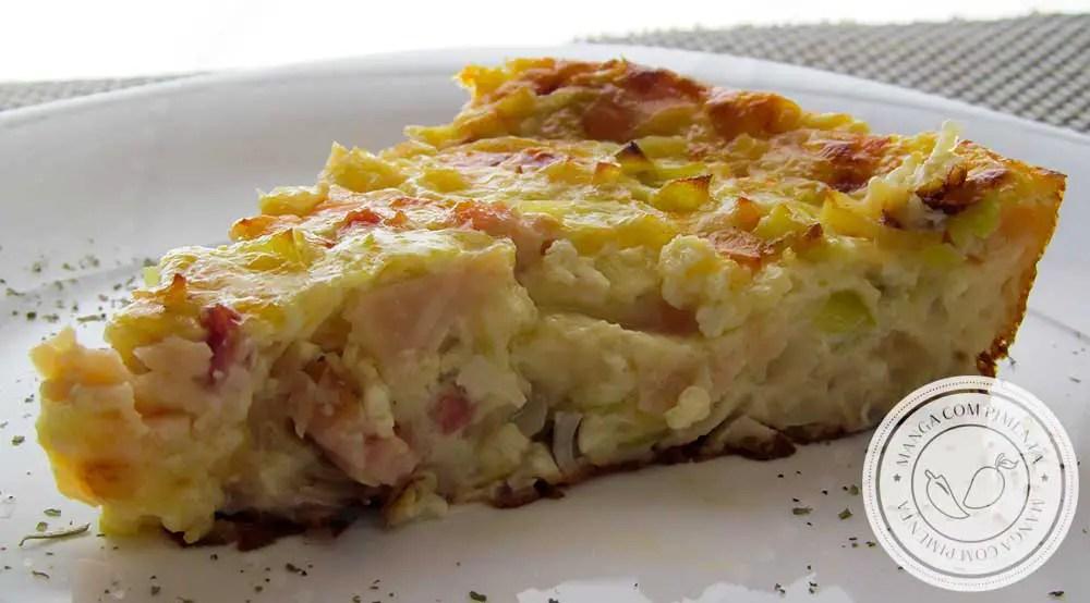 Receita de Gratinado de Alho-Poró - um prato delicioso para os dias de festas ou almoço em família / amigos.
