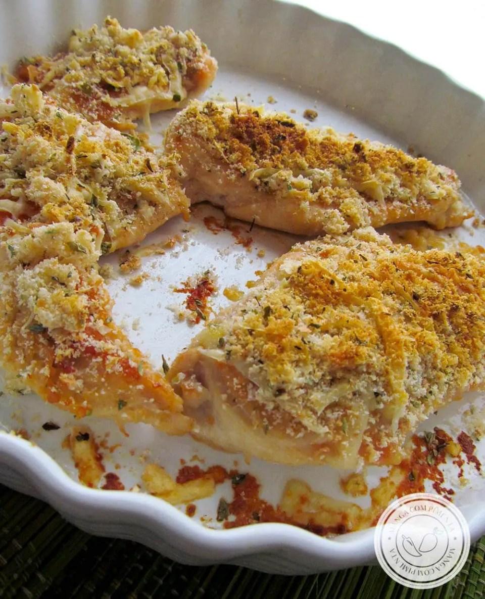 Frango Crocante de Forno- um prato delicioso para o dia a dia.