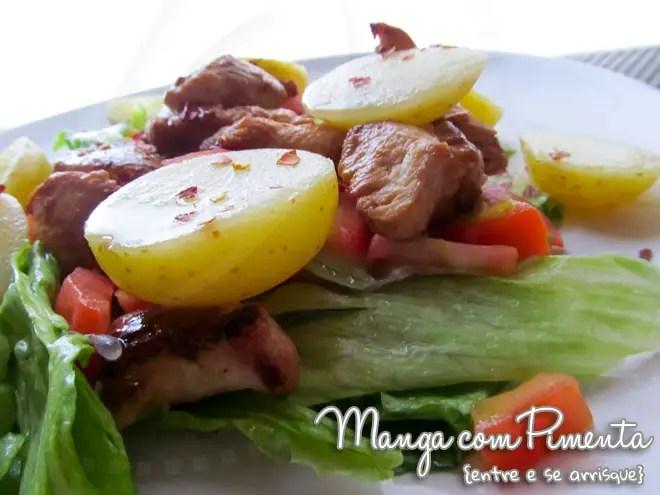 Salada de Frango, Alface, Tomate e Batata... uma refeição completa!!!