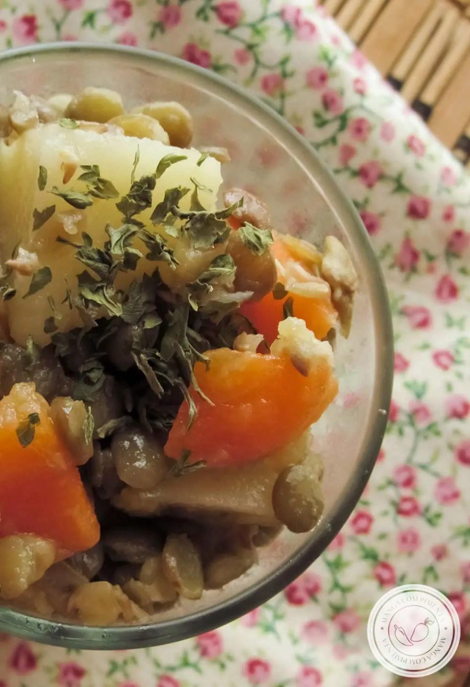 Receita de Salada de Lentilha com Batata e Cenoura | Para servir nas ceias das festas de final de ano.