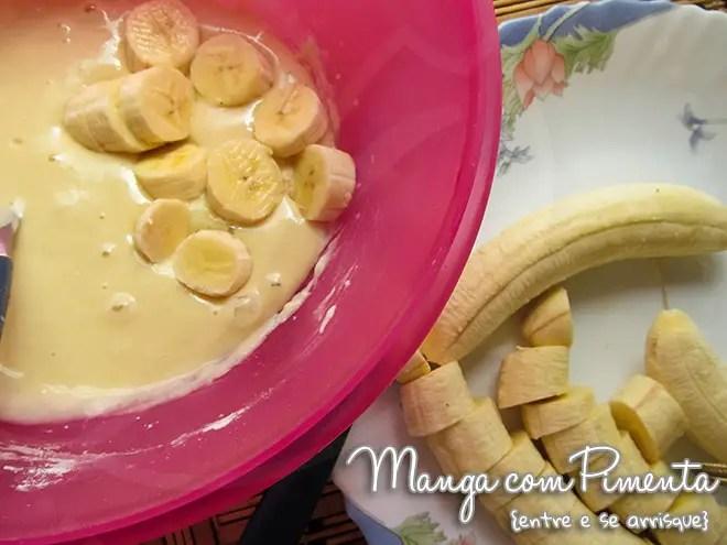 Bolinho de Chuva recheado com Banana