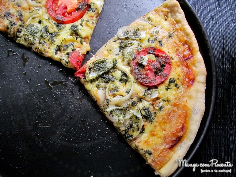 Pizza de Margherita ao Pesto