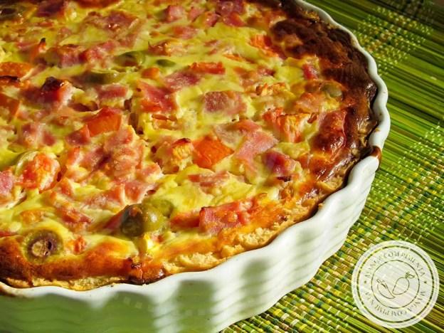 Quiche de Pizza - Lanche delicioso para o final de semana!