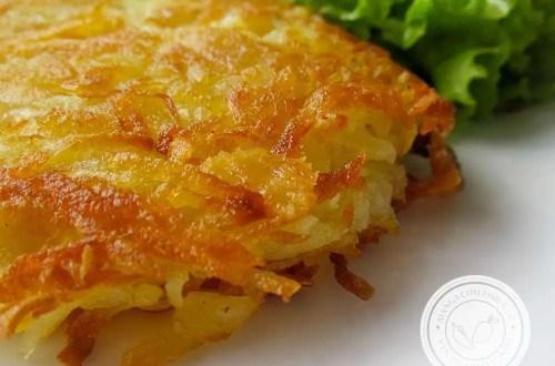Batata Rosti ou Batata Suíça - um prato delicioso para lanchar ou almoçar.